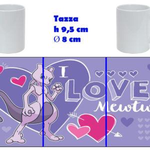 Tazza Mug - Pokemon San Valentino - Mewtwo