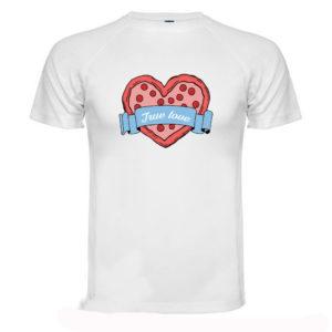 T-shirt Maglia San Valentino Pizza True Love
