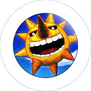 PIN PINS SPILLA 2,5 CM SOUL EATER SUN SOLE