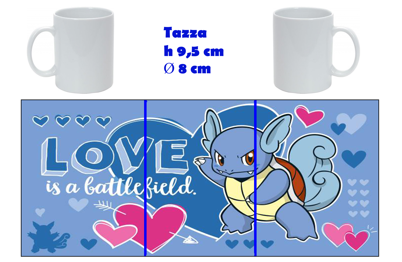 Tazza Mug - Pokemon San Valentino - Wartortle