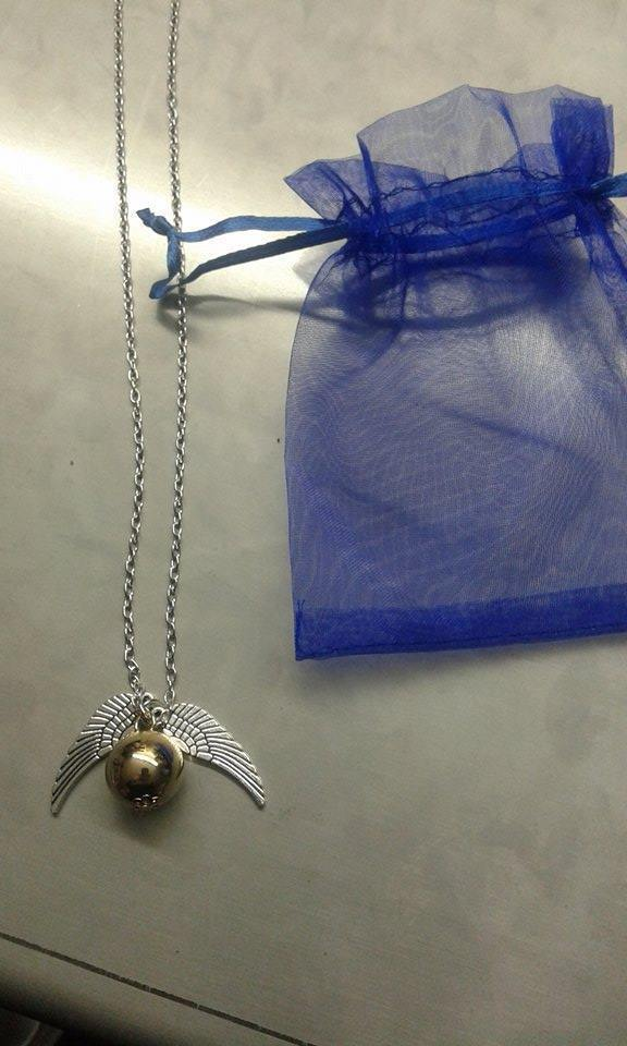 COLLANA HARRY POTTER BOCCINO D'ORO GOLDEN SNITCH