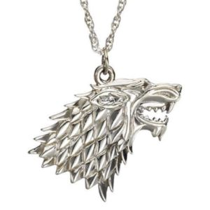 COLLANA GAME OF THRONES IL TRONO DI SPADE STARK LUPO